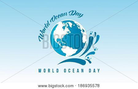 Vetcor art world ocean day banner collection stock