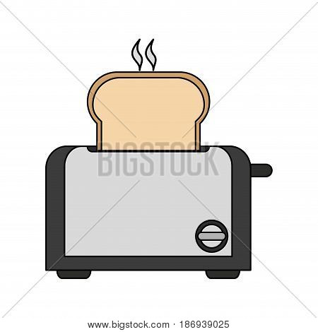 color image cartoon electric bread toaster vector illustration