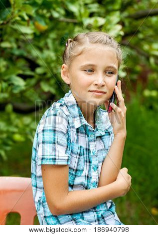 Young Girl Talking On Mobile Phone