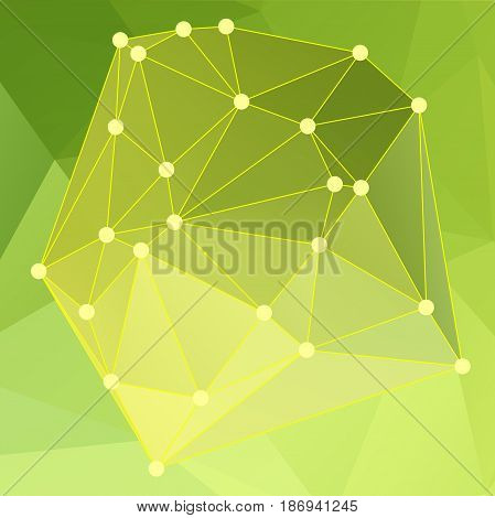 Modern Abstract Background Triangles 3D Effect Glowing Light107