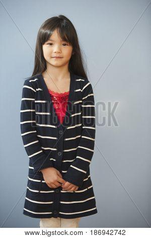 Serious mixed race girl