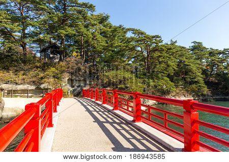 Red bridge in Matsushima Miyagi