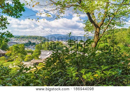 View On Kyoto City From Ginkakuji Silver Pavilion