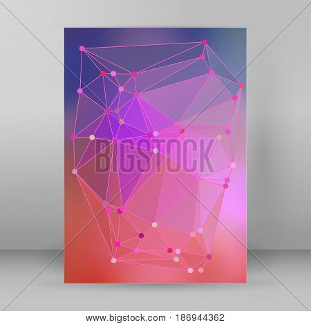 Modern Triangle Background 3D Effect Cover Page Brochure A4 Format05