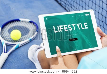 Healthy lifestyle online webpage interface