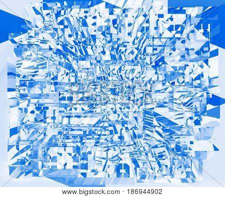 Digital Art Light Geometrical Triangular Background, Fantasy Texture