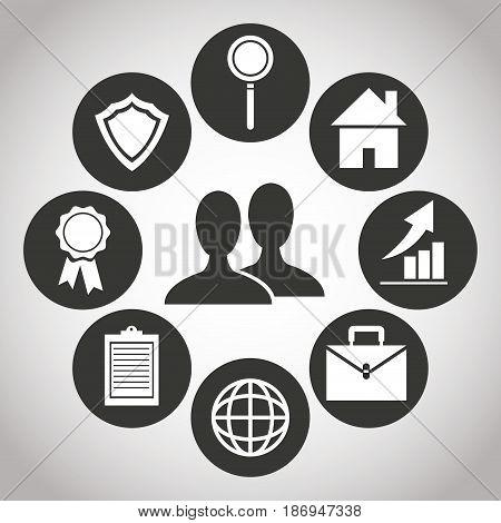 people digital bank transation financial. banking pictogram image vector illustration