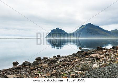Mountains On The Coast Of Atlantic Ocean, Iceland