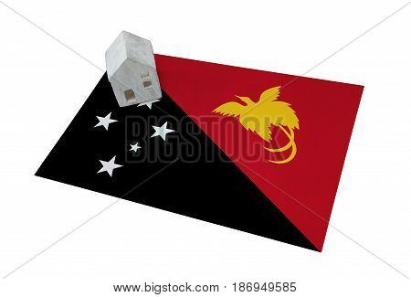 Small House On A Flag - Papua New Guinea