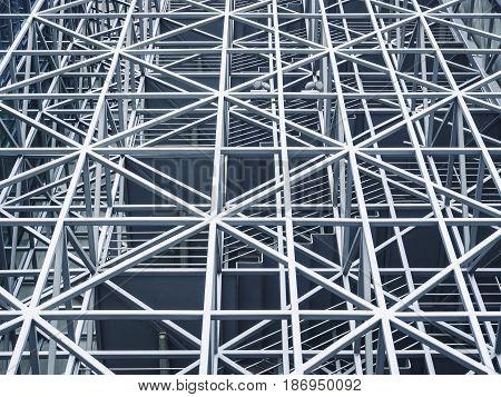 Architecture detail Modern design triangle Metal steel Structure
