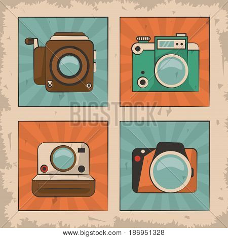vintage film movie camera photo retro device vector illustration