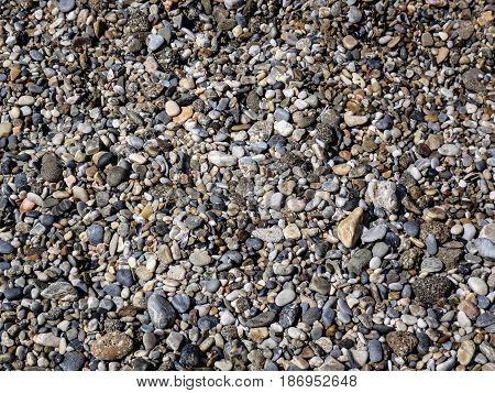 Small rocks. Stones on the beach. Stones closeup