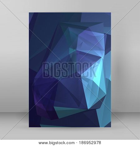 Modern Triangle Background 3D Effect Cover Page Brochure A4 Format10