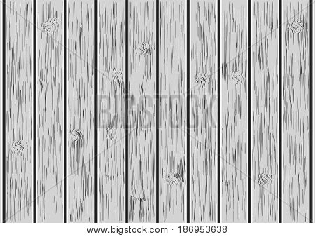 Wooden plank, wooden wall background - vector illustration
