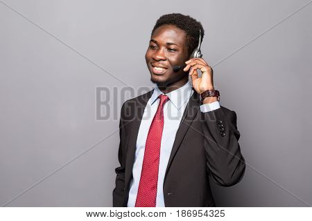 Closeup Portrait Of A Young Male Customer Service Representative Or Call Centre Worker Or Operator,