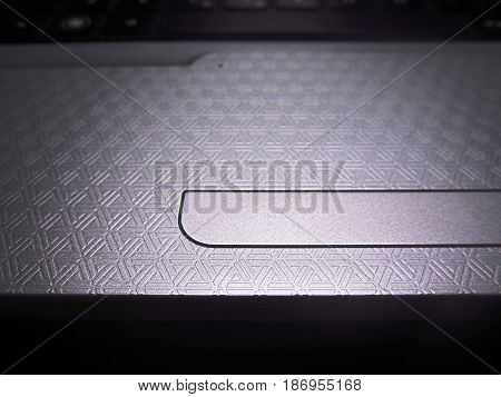technological pattern on the keyboard of a laptop