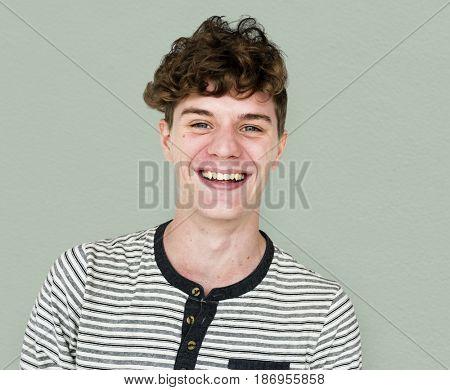 Adult People Face Smile Expression Studio Portrait
