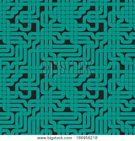 Abstract geometry braided seamless pattern. Bright line modern texture background. Vector illustration