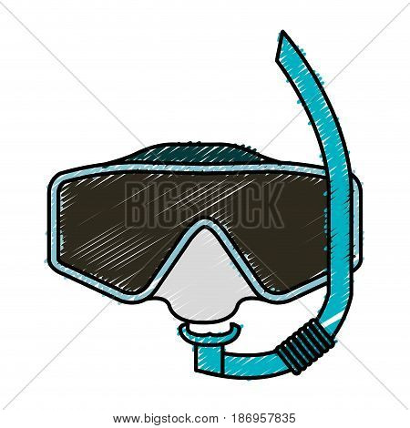 googles snorkels isolated icon vector illustration design
