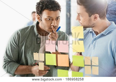 Casual Businessmen Working On New Project At Modern Office, Business Teamwork