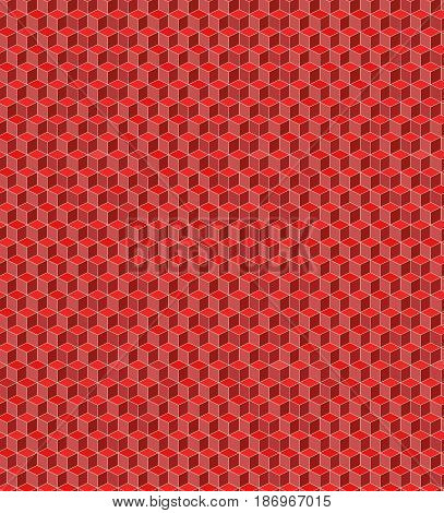 Seamless cube pattern for background. Vector illustartion.