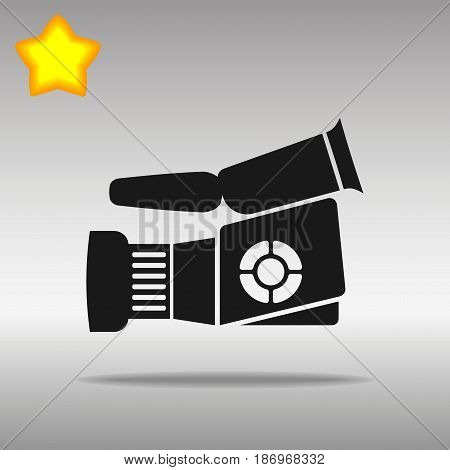Video camera black Icon button logo symbol concept high quality on the gray background