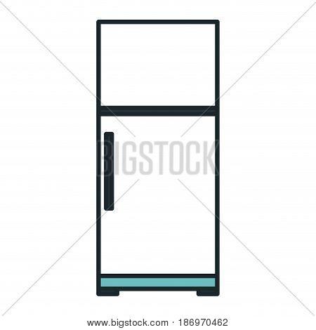 fridge kitchen isolated icon vector illustration design