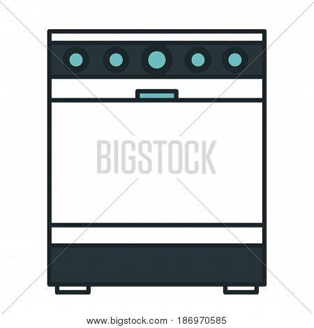 kitchen oven isolated icon vector illustration design