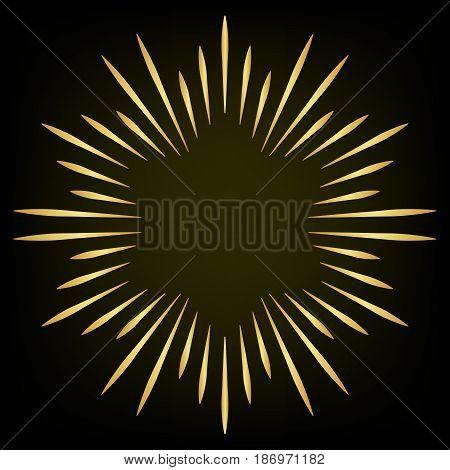 Firework Design Element. Spark Star Eliment