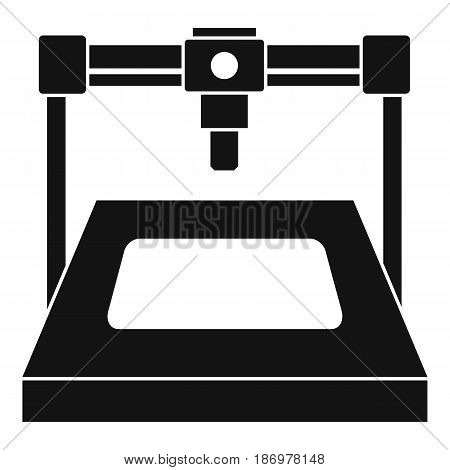 3D printer icon in simple style isolated vector illustration