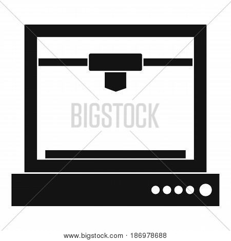 3d printer model icon in simple style isolated vector illustration