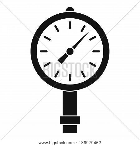 Manometer or pressure gauge icon in simple style isolated vector illustration