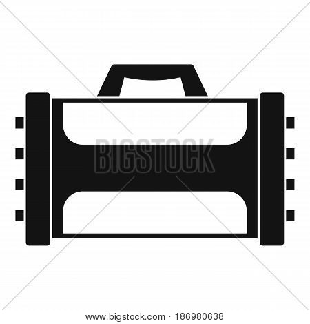 Welding machine icon in simple style isolated vector illustration