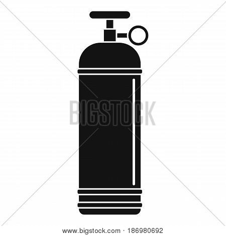 Compressed gas container icon in simple style isolated vector illustration