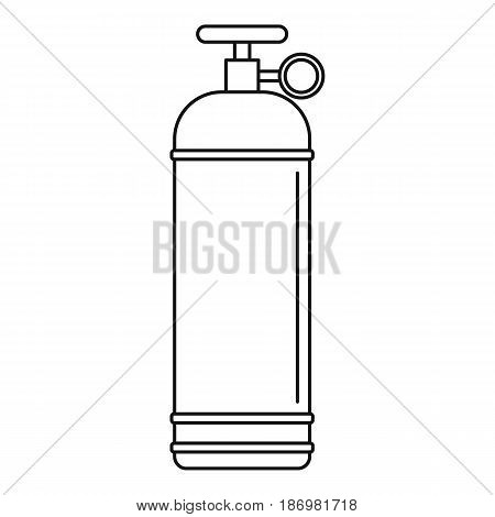 Compressed gas container icon in outline style isolated vector illustration