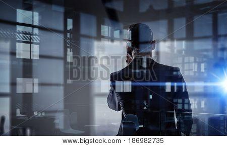 Businessman having talk