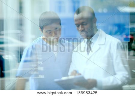 Portrait Of Doctors Discussing Work, Doctor Conference Concept