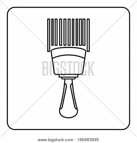 Bar code scanner icon in outline style isolated vector illustration