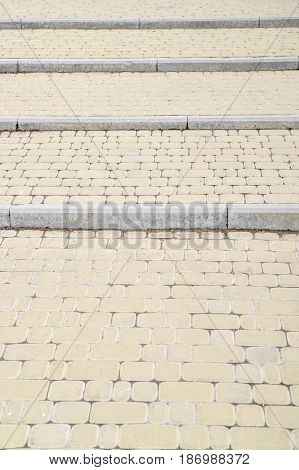 Background, Texture Of A City Paving Stone On The Whole Frame. Vertical Frame