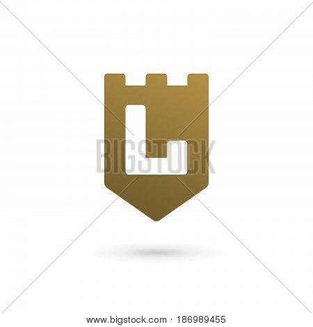 Letter L Shield Logo Icon Design Template Elements