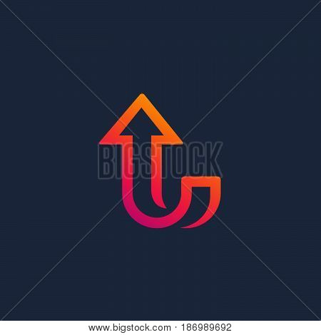 Letter L Arrow Logo Icon Design Template Elements