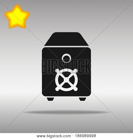 Safe black Icon button logo symbol concept high quality on the gray background