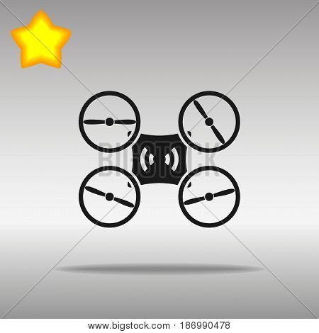 Drone black Icon button logo symbol concept high quality on the gray background