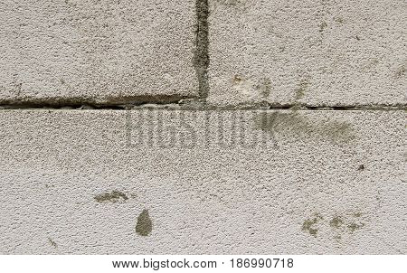 Wall, masonry of several aerated concrete blocks.
