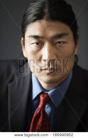 Serious Korean businessman
