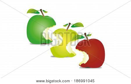 isolated, on, white, drink, fruits, vegetables, apple, fruit