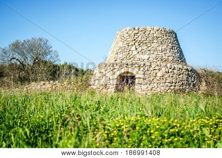 Old trulli in Puglia south of Italy Europe