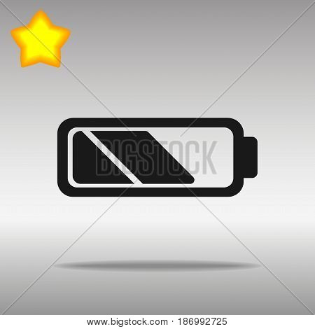 Battery black Icon button logo symbol concept high quality on the gray background