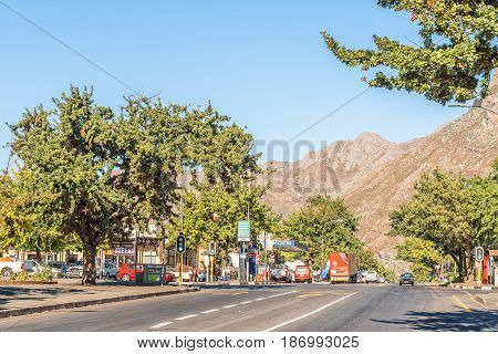 CERES SOUTH AFRICA - APRIL 2 2017: A street scene in Ceres a town in the Boland area of the Western Cape Province