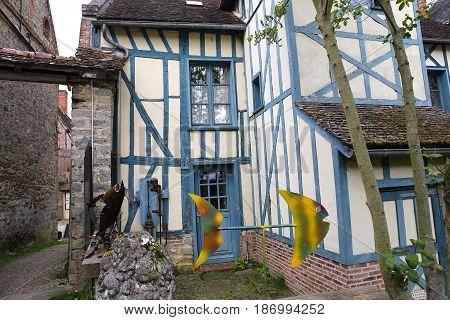 Old Houses Of Gerberoy Village France